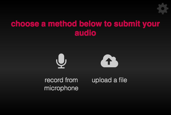 Microphone start screen